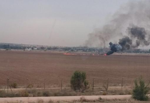 accidente F-18 Torrejon