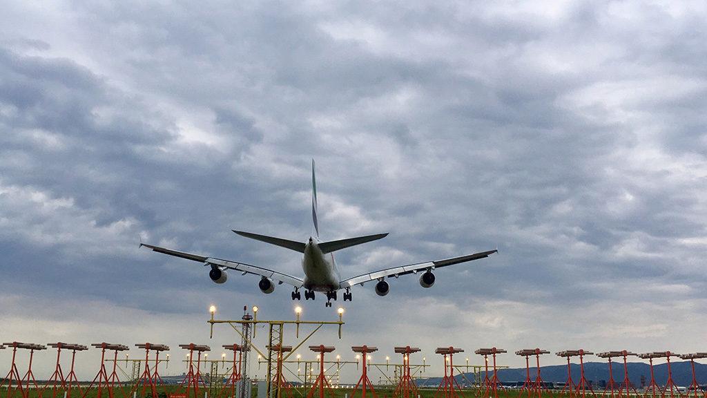 Aproximación A380 en Barcelona-El Prat