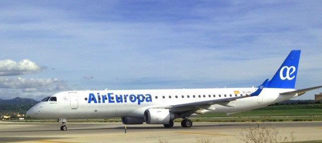 vuelo a venecia de Air Europa con Embraer