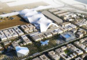 Futuro centro de negocios entorno al aeropuerto de Hamad,  Doha.