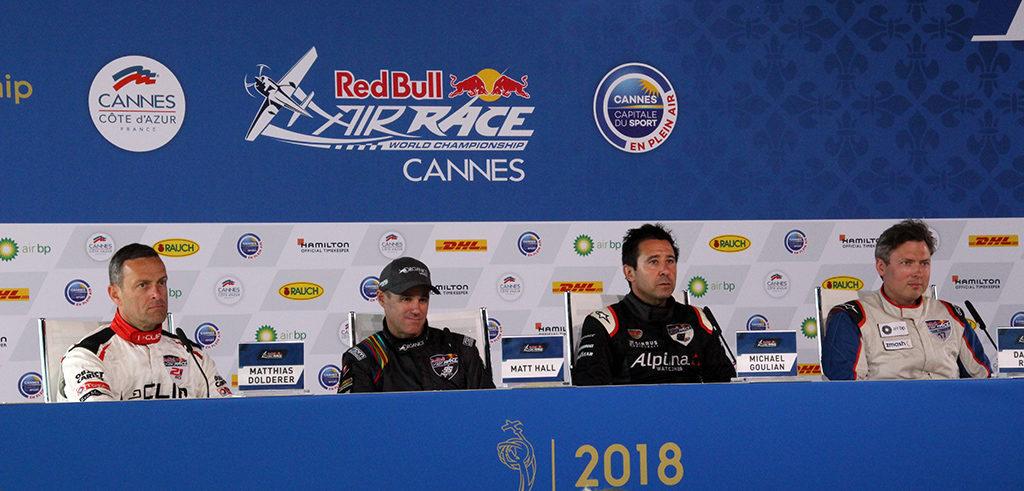 Los ganadores de la carrera en la Master class y Challenger Class durante la rueda de prensa posterior a la carrera. Foto: Luis Martín-Crespo