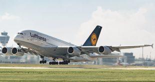 l hub de Lufthansa en Múnich es reconocido por su gestión medioambiental sostenible. EWn la foto, A380 de Lufthansa en el aeropuerto de Múnich.