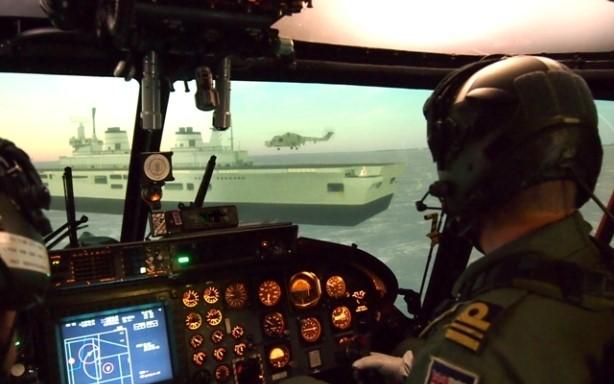 Simulacion de vuelo de helicópteros