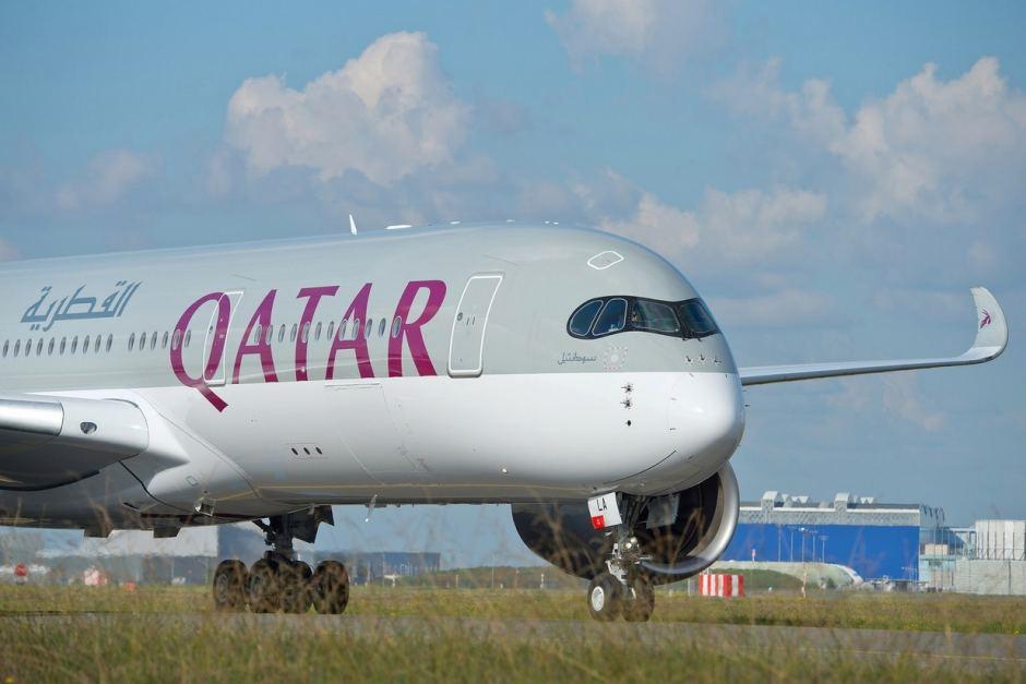 qatar a350 en Avinor Oslo