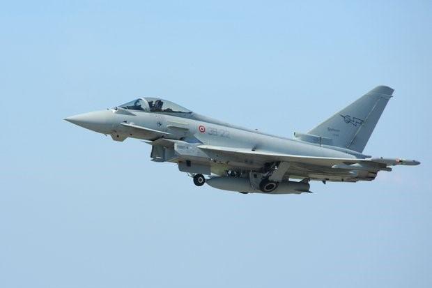 Eurofighter despegando en el Scramble ordenado. Foto: Ministerio de Defensa Español