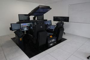Detalle de la sala IPT del B-787 en las instalaciones de CAE. (foto: LMC)