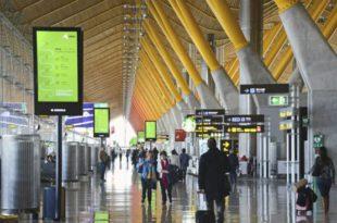 un 6,4% más pasajeros aeropuertos