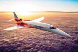 Infografía del avión supersónico de Aerion con ingeniería proporcionada por Airbus.