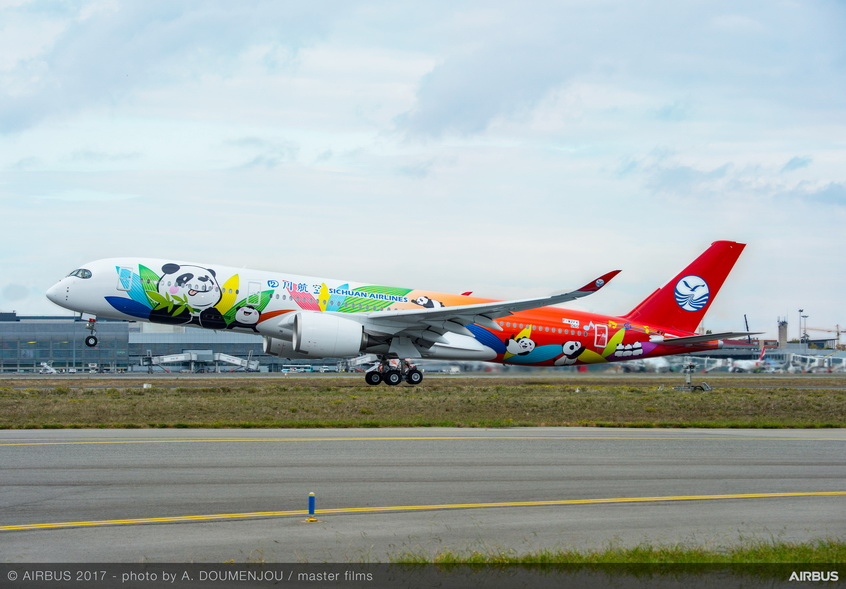 A350-900-Sichuan-Airlines-MSN060-take-off-