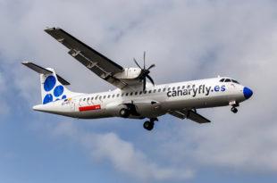 CANARYFLY aerolínea más puntual julio