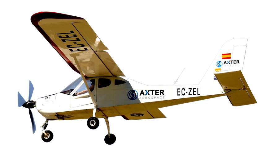 axter aerospace avion ligero electrico