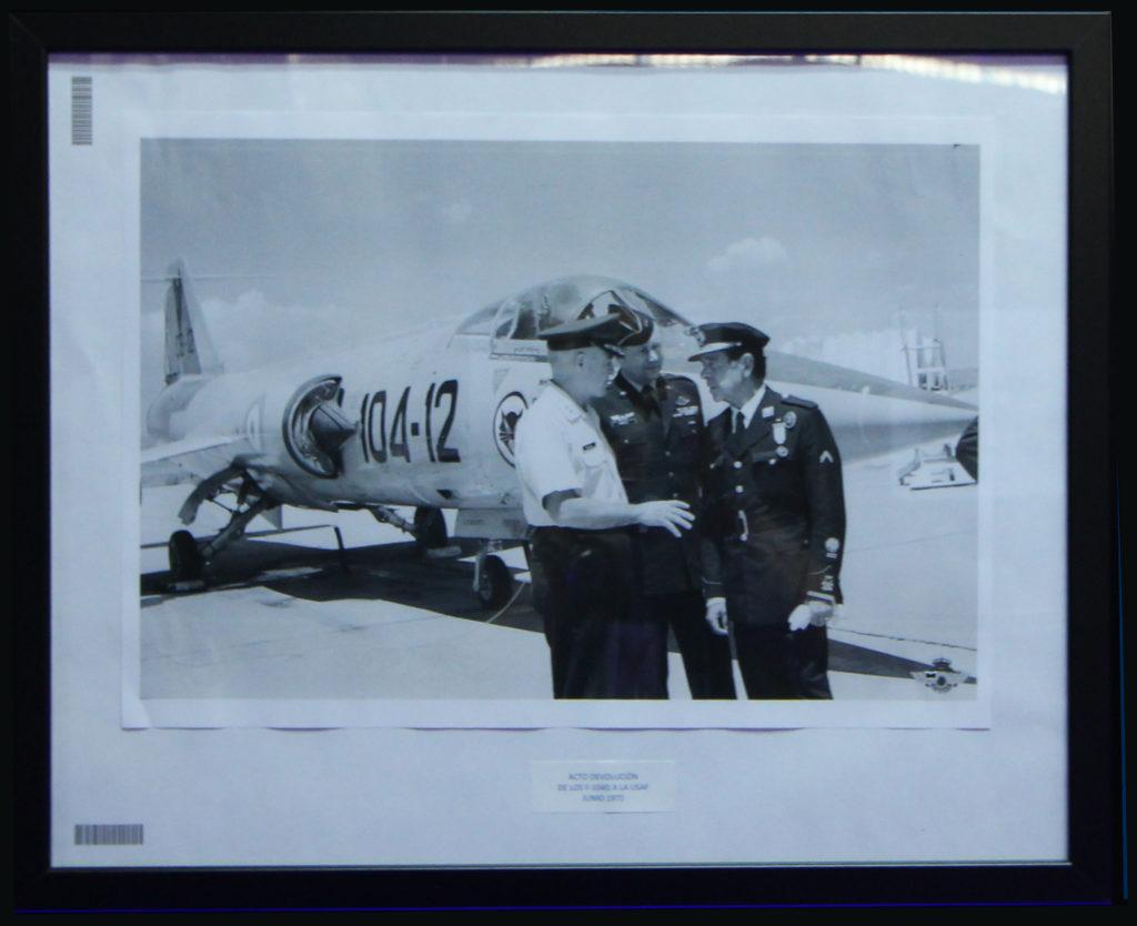 Devolución a la USAF de los F-104. Junio 1972. Precisamente fue este F-104 el que se recuperó de Grecia y ahora luce con sus colores en el museo. Foto: LMC