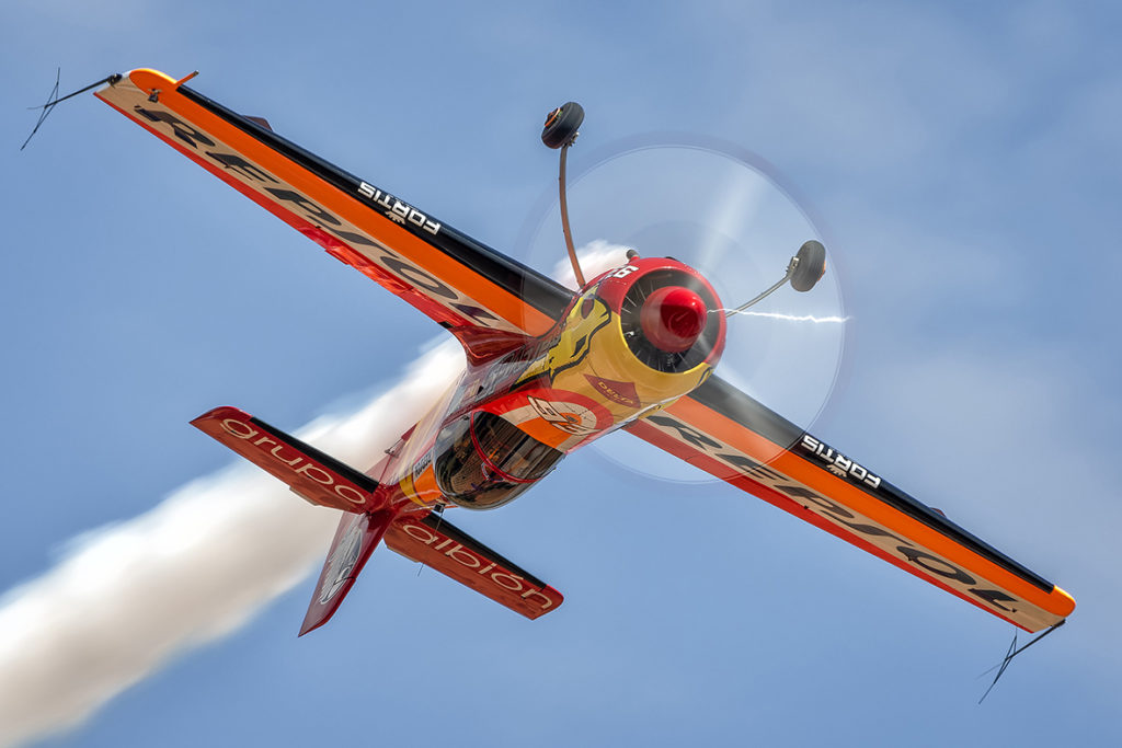 CastorFantoba vuelo acrobático