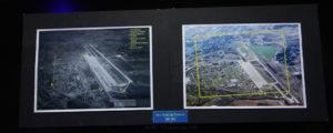 Fotografía Aérea de la Base Aérea de Torrejón en  1957 y en 2015. Se distingue el crecimiento sobre todo de Torrejón