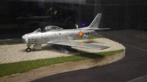 Maqueta de un F-86 Sabre en el museo