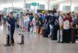 Colas para facturar en la T1 aeropuerto del Prat. Foto:  Josep García