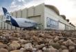 Foto: El Beluga en la planta de San Pablo (Airbus)