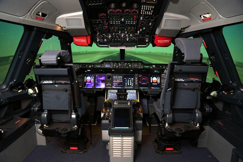 Foto: Simulador del A400M (Airbus)