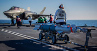 FIRST BOMBS DROPPED FROM HMS QUEEN ELIZABETH'S F-35 FIGHTER JETS