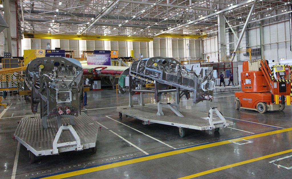Foto: Bancadas de motor del A400M (Luis M-C)
