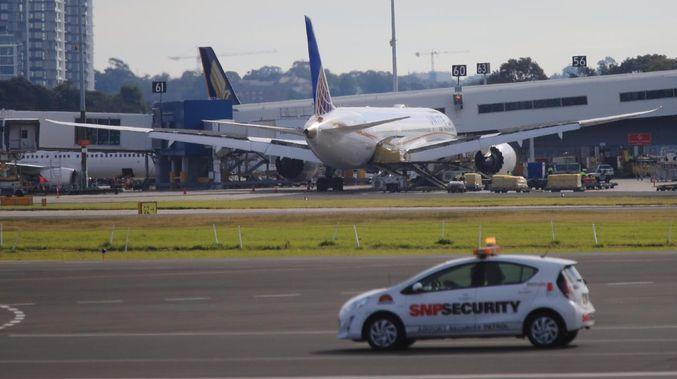 El 787 de United en Sydney. Foto: Toby Zerna