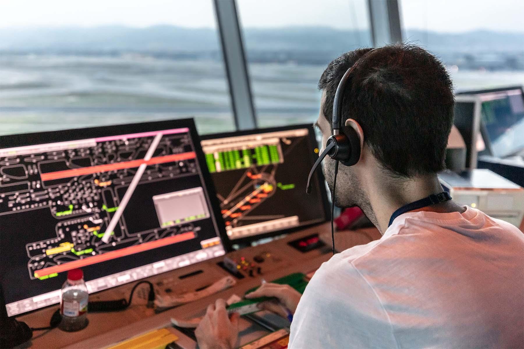 Controlador en Torre de control Barcelona.