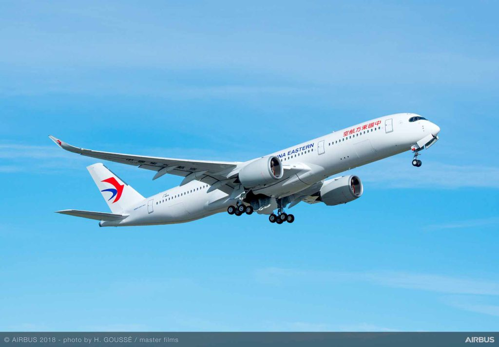 China Eastern A350-900 takeoff