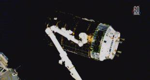 Captura de la KOUNOTORI7 en la ISS (Jaxa /NASA)