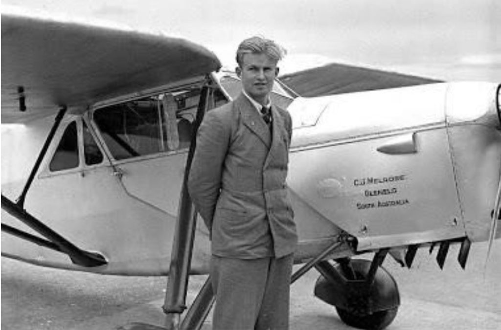 Jimmy Melrose, joven héroe de la aviación australiana, tempranamente fallecido en 1936