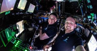 Alexander Gerst en el módulo de la ISS Cygnus S.S. John Young. Foto: Alexander Gerst (Flickr)