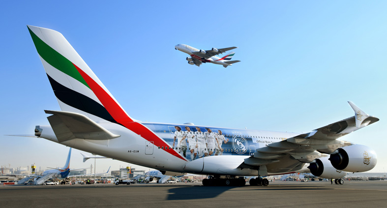 A380 Emirates A380 dedicado al Real Madrid