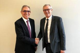 Jesús Prieto, Presidente y CEO de CT, y Philippe Demigne, Chairman de Bertin Technologies.