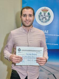 """Iván Lage, premio """"Mejor trabajo relacionado con diversidad en el sector aeronáutico""""."""