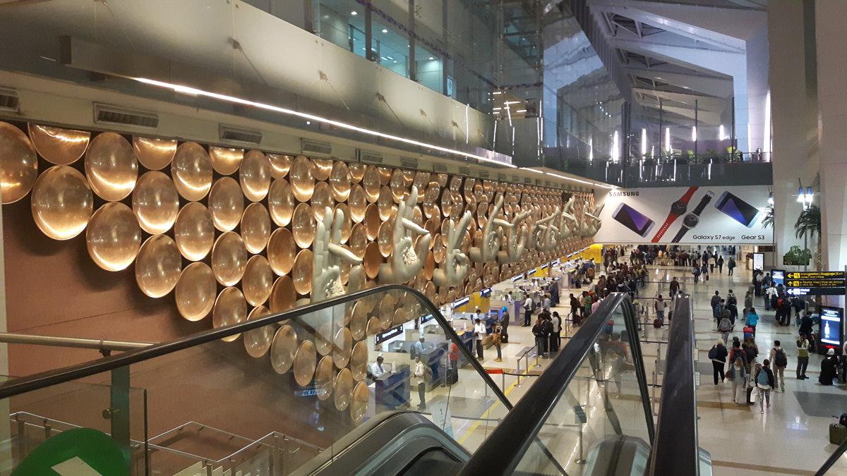 Aeropuerto Internacional Indira Gandhi de Nueva Delhi.
