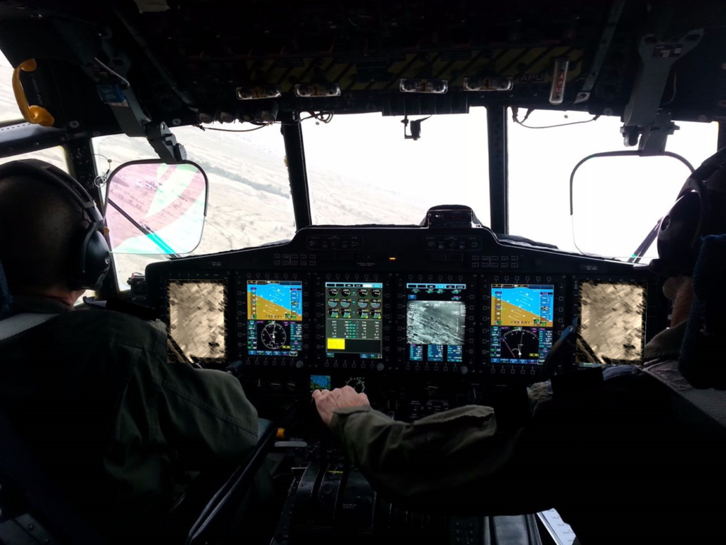Illustration of Elbit Systems' Terrain Following-Terrain Avoidance System onboard C-130 Aircraft