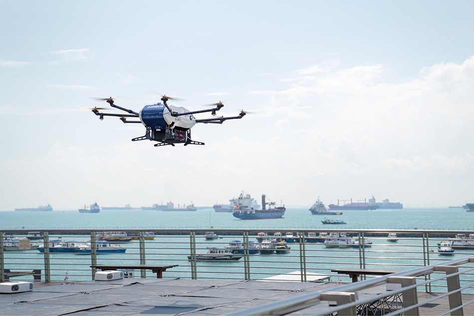 Skyways drone lifting off ©Wilhelmsen