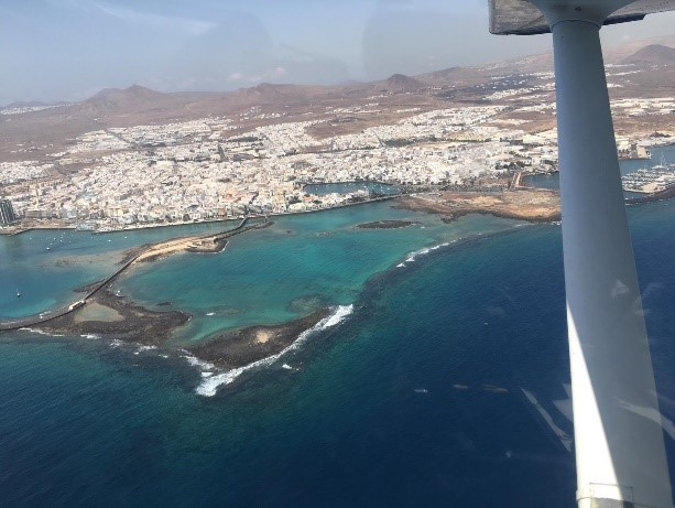 Llegada a las Islas Canarias