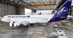 Lufthansa Europaflieger Livery Beklebung Airbus A320 Kennung AIZG am 23-4-19