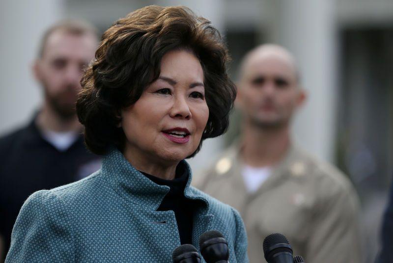 La secretaria de transporte de Estados Unidos, Elaine Chao.