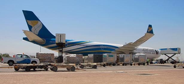 Oman Air services cargo