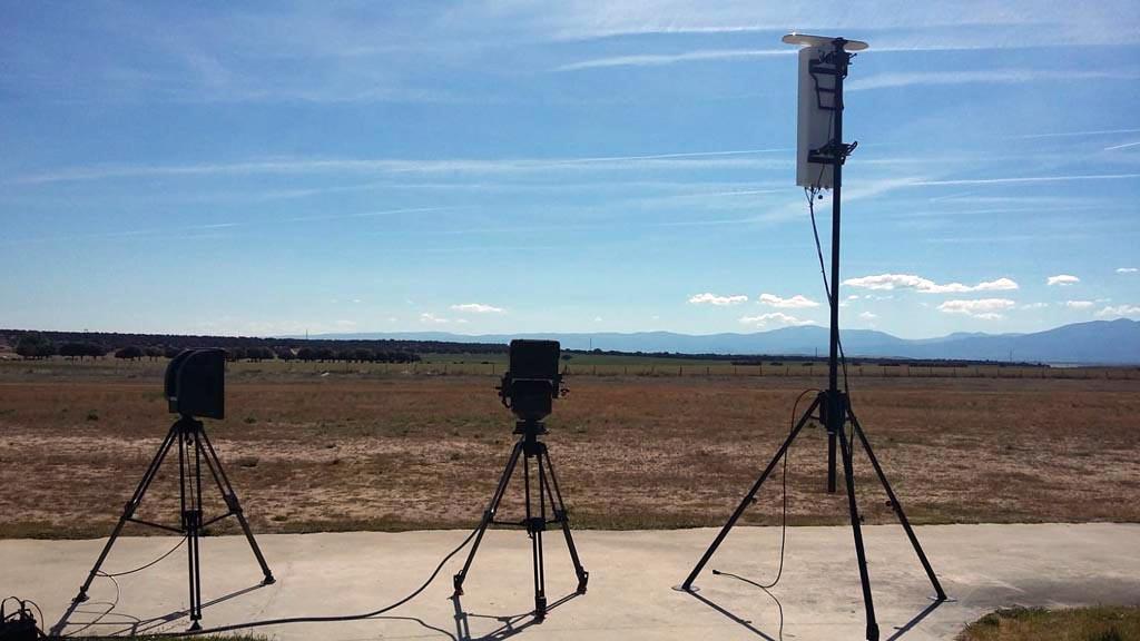 Presentación del Horus Captor en el aeródromo de Marugán (Segovia).
