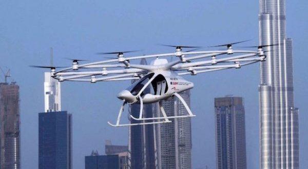 Taxi aéreo Volocopter no tripulado.