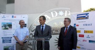 El director del IDR, Angel Sanz, el Ministro Duque y el rector de la UPM, Guillermo Cisneros en la presentación