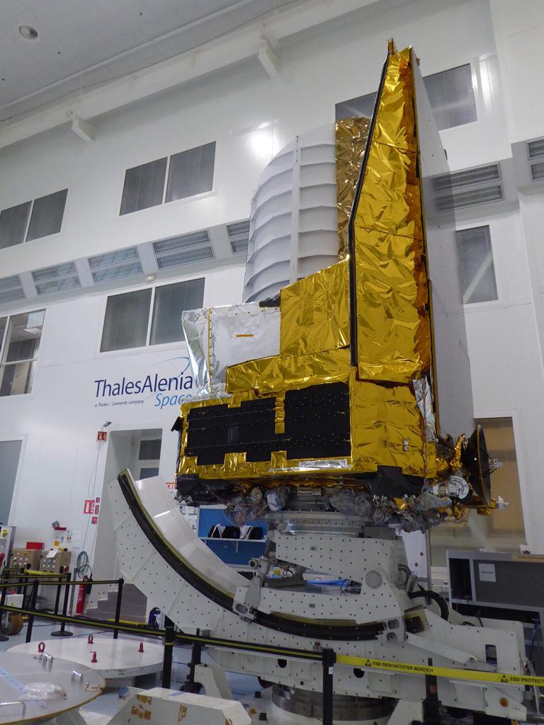 Modelo Estructural y Térmico de Euclides integrado ©Thales Alenia Space_Airbus Defence and Space