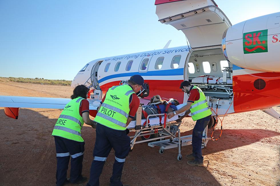 El Pilatus PC24, realizando una misión de evacuación médica en pista no preparada en Australia. Foto: Pilatus