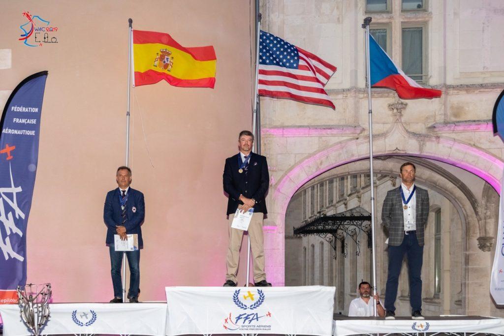 Podio del WAC 2019 con el estadounidense Rob Holland (medalla de oro) y el checo Martin Sonka (bronce).