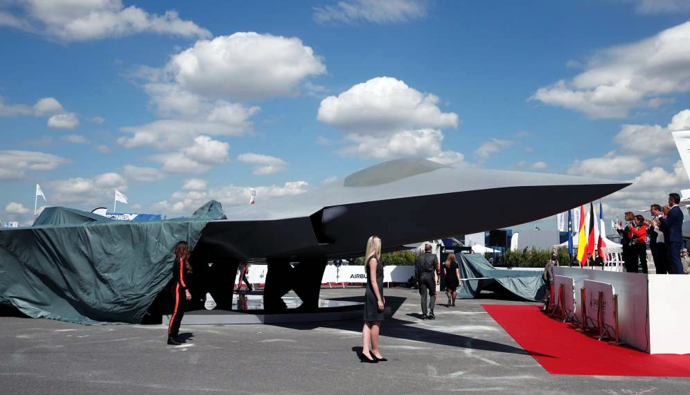 Modelo a escala real del FCAS. Foto: Reuters