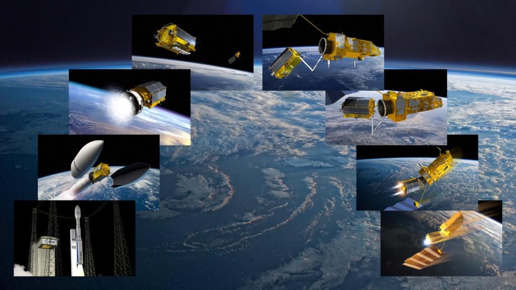 e-deorbit misión. Grafico ESA