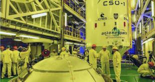 El sistema CSO fue lanzado desde la base espacial de Kurú, en la Guayana francesa, a bordo de un cohete ruso Soyuz. Foto: Arianespace