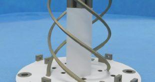 Hélice de PROBA-3 fabricada en impresión metálica 3D. Imagen: SENER - CATEC